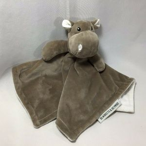 Hippo Blankets Beyond Lovey Gray Hippo Baby 13x13